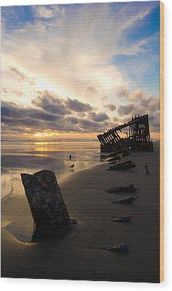 Beach Bones Wood Print by Jennifer  Owen