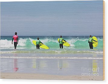 Wood Print featuring the photograph Beach Boys Go Surfing by Terri Waters