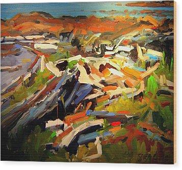 Beach Wood Print by Brian Simons