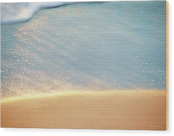 Beach Caress Wood Print by Glenn Gemmell