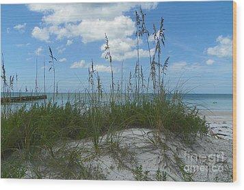 Wood Print featuring the photograph Beach by Carol  Bradley