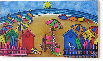 Beach Colours Wood Print by Lisa  Lorenz