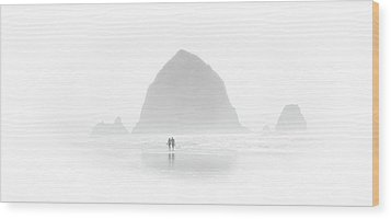 Beach Combers Wood Print
