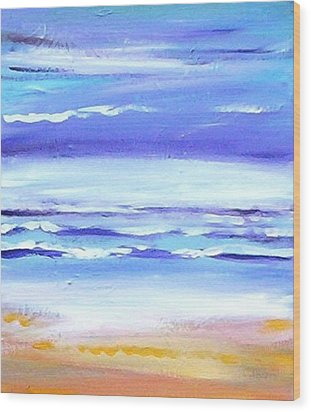 Beach Dawn Wood Print by Winsome Gunning
