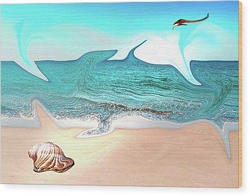 Beach Dream Wood Print