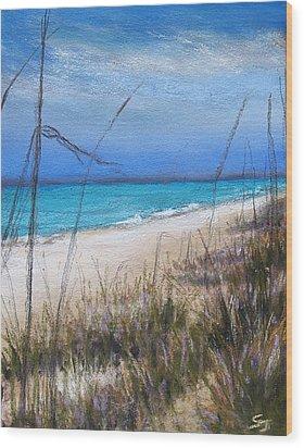 Beach Dreaming Wood Print by Susan Jenkins