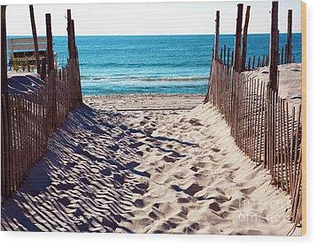 Beach Entry Wood Print