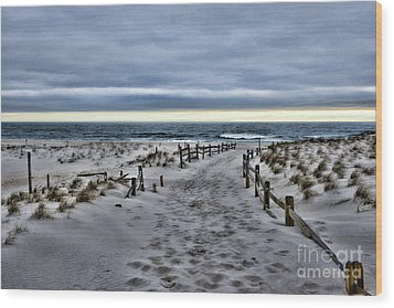 Wood Print featuring the photograph Beach Entry by Paul Ward