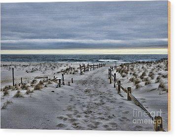 Beach Entry Wood Print by Paul Ward