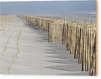Beach Fence Shirley New York Wood Print