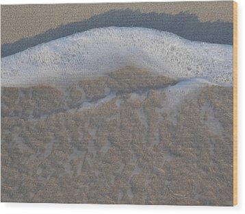 Beach Foam Wood Print by Margaret Brooks