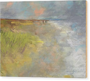 Beach Grasses Wood Print by Frances Marino