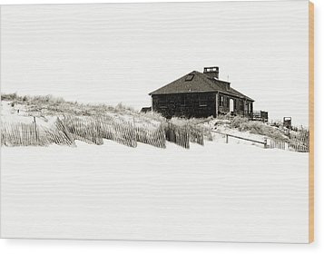 Beach House - Jersey Shore Wood Print