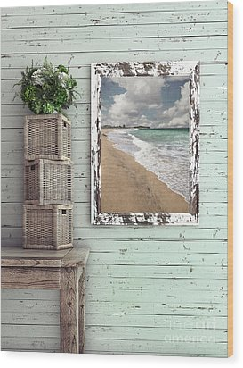 Wood Print featuring the photograph Beach House By Kaye Menner by Kaye Menner