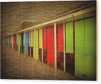 Beach Huts Wood Print by Svetlana Sewell