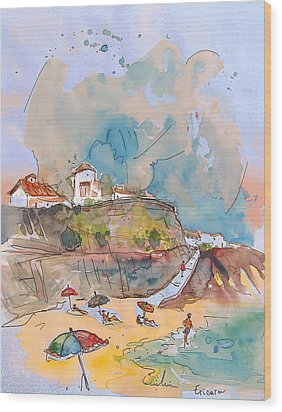 Beach In Ericeira In Portugal Wood Print by Miki De Goodaboom