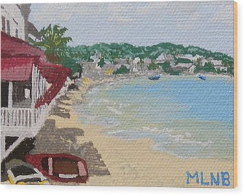 Beach In Grand Case Wood Print by Margaret Brooks