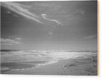 Beach Wood Print by John Gusky