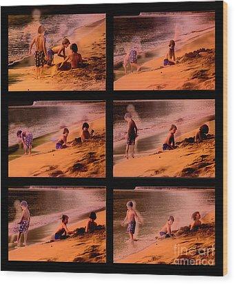 Beach Memories Wood Print by Madeline Ellis
