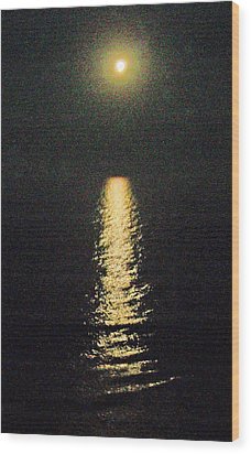Beach Moonglow Wood Print by Patricia Taylor
