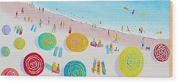 Beach Painting - The Simple Life Wood Print