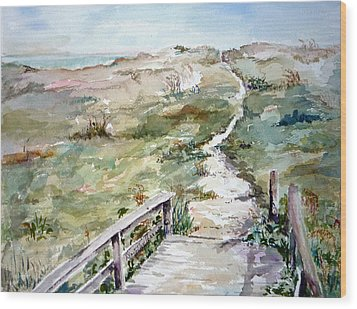 Beach Path Wood Print by Dorothy Herron
