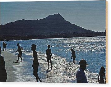 Beach People Wood Print by Jim Proctor