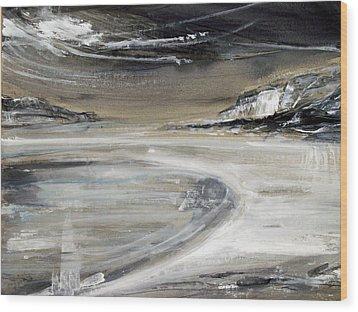 Beach Pool Wood Print by Keran Sunaski Gilmore
