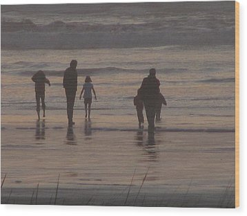 Beach Quality Time Wood Print by Gregory Smith