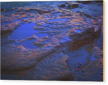 Beach Rock 3 Wood Print