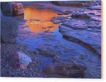 Beach Rock Wood Print