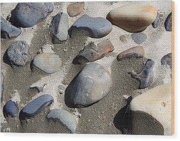 Wood Print featuring the photograph Beach Rocks 3 by Joanne Coyle