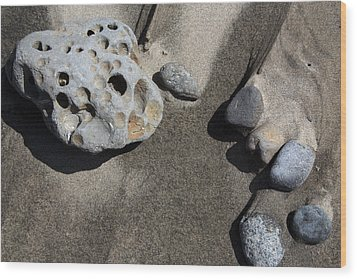Wood Print featuring the photograph Beach Rocks by Joanne Coyle