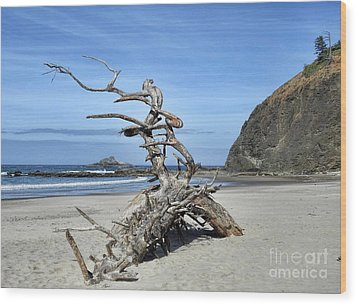 Wood Print featuring the photograph Beach Sculpture by Peggy Hughes