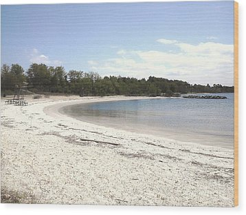 Beach Solomons Island Wood Print
