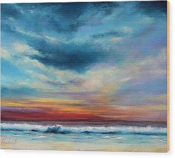 Beach Sunset Wood Print by Prashant Shah