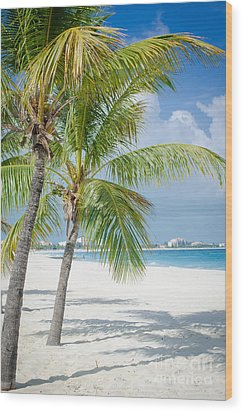 Beach Time In Turks And Caicos Wood Print by Mike Ste Marie