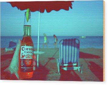 Beach Time Wood Print by La Dolce Vita