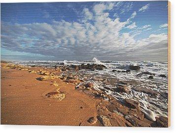 Beach View Wood Print by Robert Och