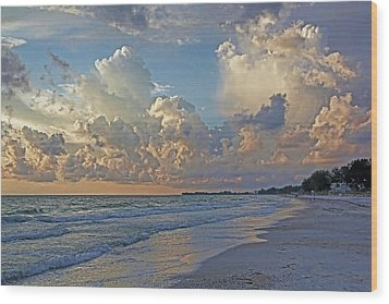 Beach Walk Wood Print by HH Photography of Florida