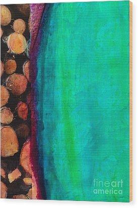Beach Wood Print by William Wyckoff