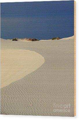 Beach With No Water Wood Print by Mark Grayden
