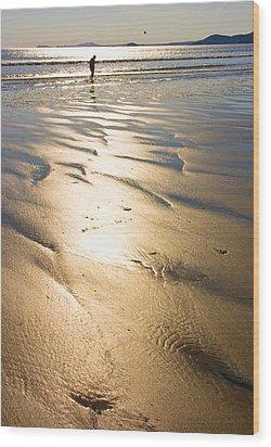 Beachcomber Wood Print by Aleck Rich Seddon