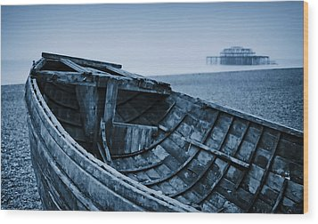 Beached At Brighton Wood Print by Tony Grider