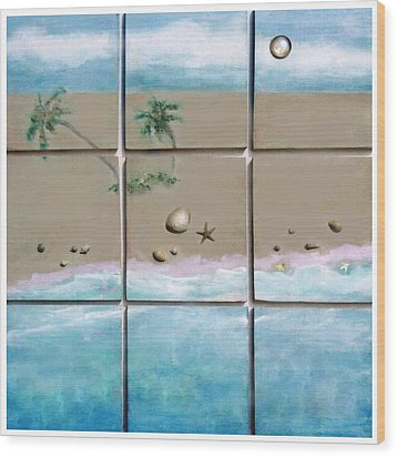 Beaches Cubed Wood Print