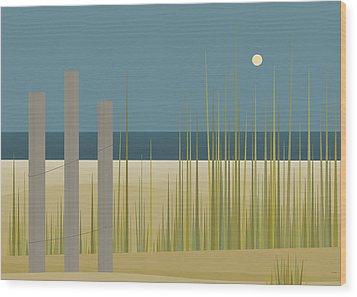 Beaches - Fence Wood Print