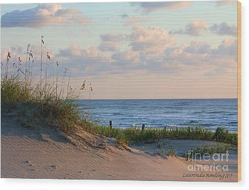 Beaches Of Outer Banks Nc Wood Print by Laurinda Bowling