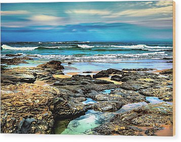 Wood Print featuring the photograph Beachscape At Hungry Head  by Wallaroo Images