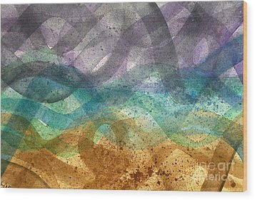 Beachy Wood Print by Holly York