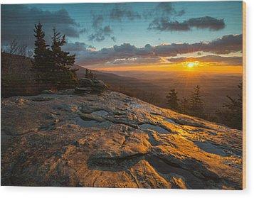 Beacon Heights Blue Ridge Park Way Wood Print